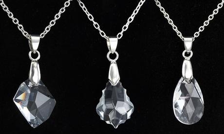1 o 2 collares de plata decorado con cristales Swarovski®