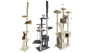 Cat Furniture Floor-to-Ceiling, Playground, and Ladder Cat Trees