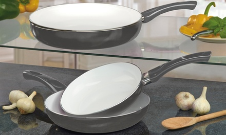 Cooks Professional ThreePiece Ceramic Frying Pan Set