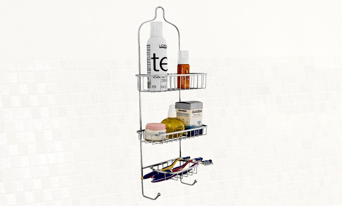 Stainless Steel Shower Caddy from £8.99 (Up to 63% Off)