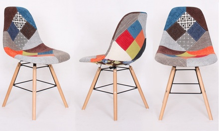 lot de 2 chaises scandinaves patchwork patch nantes idiscount france. Black Bedroom Furniture Sets. Home Design Ideas
