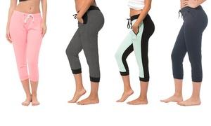 Coco Limon Women's Capri Joggers (4-pack)