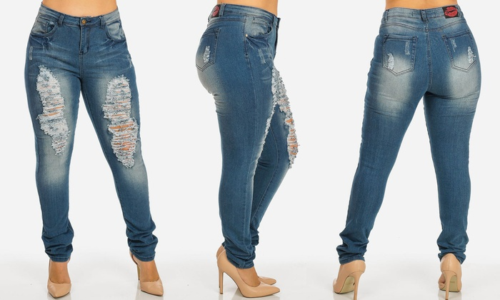 Toxic Rose Women's Plus Size High-Waist Jeans (Size 24) | Groupon