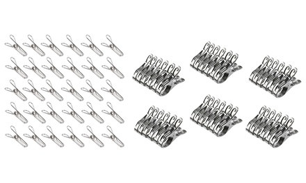 Multipurpose Stainless Steel Wire Metal Laundry Clips: 60 ($14) or 120 ($24)