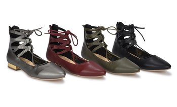 Sociology Gia Women's Lace Up Flats w/ Back Zipper | Groupon Exclusive