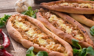 Fiesta Cafe: Turkish Pide, Chips and Drink for One ($7), Two ($13) or Four People ($25) at Fiesta Cafe, West Beach (Up to $56 Value)