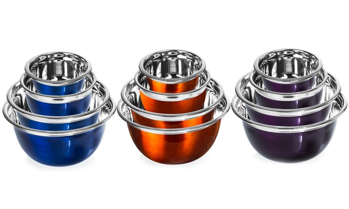 Colored 4-Piece German Mixing Bowl Set