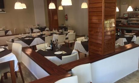 Cocina de mercado para 2 o 4 con aperitivo, entrante, principal, vino y postre desde 24,90€ en restaurante Nou Pins Parc