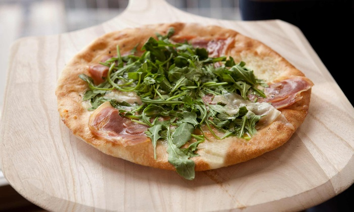 Pizza Nea - NE Minneapolis: $24 for Neapolitan Pizza for Two with Wine or Beer, Valid Sunday–Thursday, at Pizza Nea (Up to $43 Value)