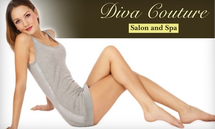Diva Couture Salon and Spa - Oakville: $99 for Six Laser Hair-Removal Treatments at Diva Couture Salon and Spa in Oakville (Up to $894 Value)