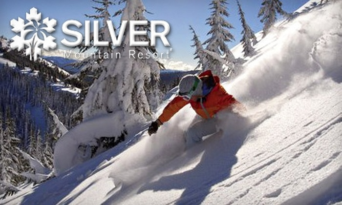 Silver Mountain Resort - Kellogg: $44 for One Day's Lift Ticket and Ski or Snowboard Rental (Up to $84 Value) or One Lift Ticket and Group Ski Lesson (Up to $110 Value) at Silver Mountain Resort in Idaho