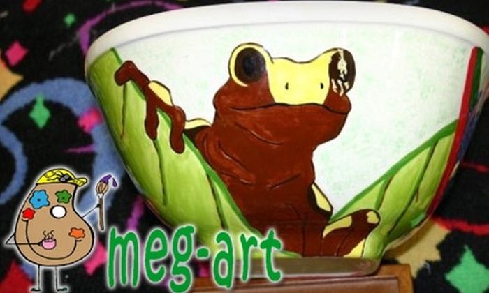 Meg-Art - Huntersville: $12 for $25 Worth of Paint-Your-Own Pottery at Meg-Art