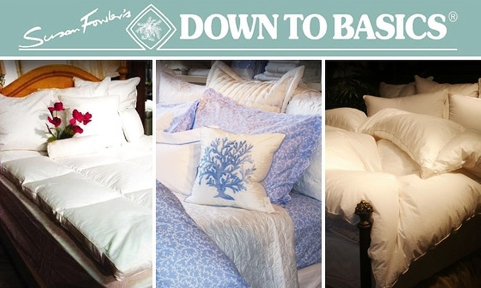 Down To Basics - Back Bay: $50 for $100 Worth of Down Bedding at Down to Basics