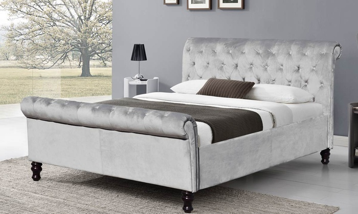 lambeth-velvet-sleigh-bed