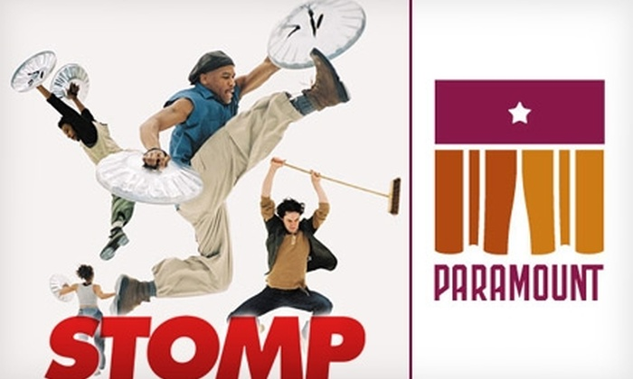 """Paramount Theatre - Downtown: $21 Ticket to """"STOMP"""" and a Parking Pass at the Paramount Theatre on May 4 ($54.50 Value)"""