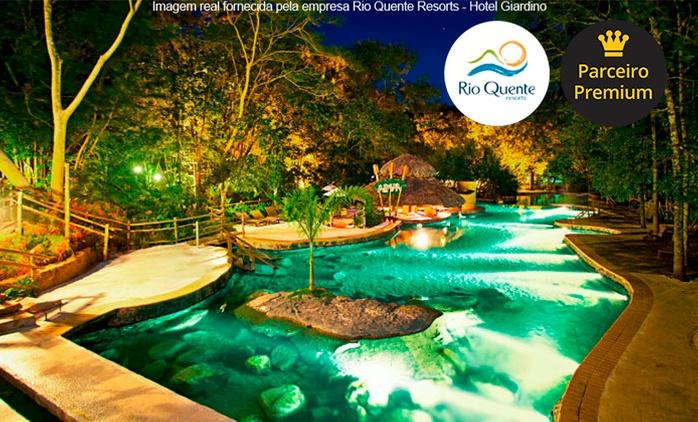 Rio Quente Resorts Giardino: 2, 3, 5 ou 7 noites para 2 adultos e 2 crianças + meia pensão e acesso ao Hot Park