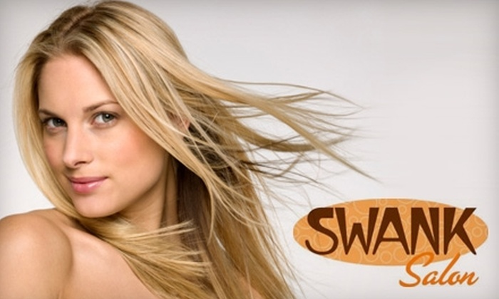 Swank Salon - Encanto: $20 for a Shampoo, Haircut, and Style at Swank Salon ($55 Value)