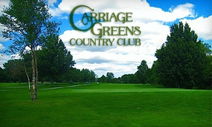 Carriage Greens Country Club - Darien: $25 for 18 Holes of Golf and Cart Rental (Up to $52 Value) at Carriage Greens Country Club or $15 for $30 Worth of Fare at The Sandtrap Grill in Darien