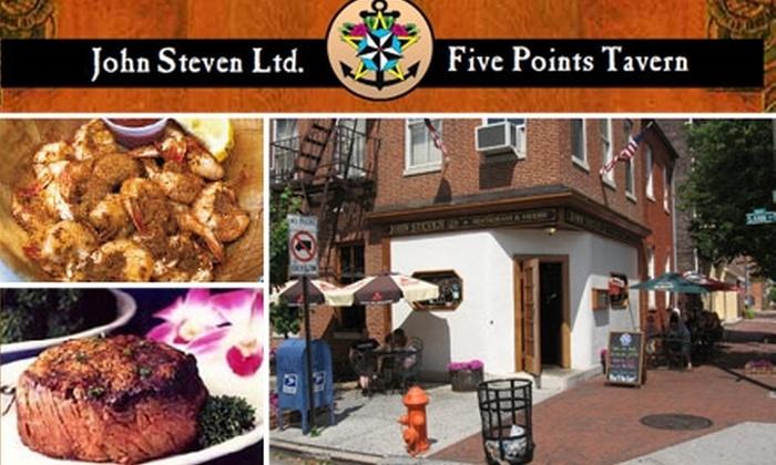 John Steven, Ltd. - Fells Point: $15 for $30 Worth of Steamers, Beers, and More at John Steven, Ltd.