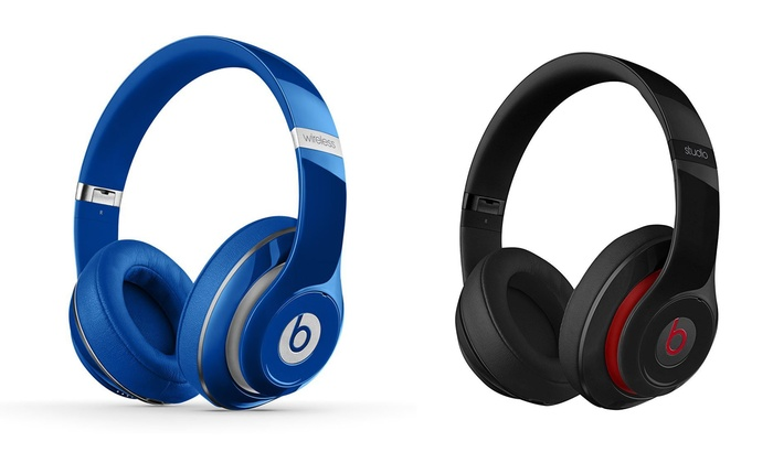 beats by dr dre studio 2 wireless noise cancelling headphones new groupon. Black Bedroom Furniture Sets. Home Design Ideas