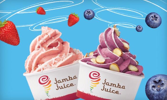 Jamba Juice - Downtown Santa Cruz: $5 for Frozen Yogurt for Two at Jamba Juice ($10.50 Value)