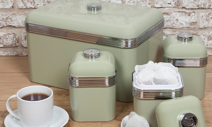 Swan Bread Bin And Canisters Set Groupon