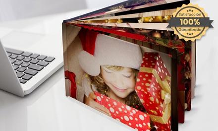 Hasta 3 fotolibros planos A4 con 20, 30 o 40 páginas y portada de tela en Printerpix (ES)