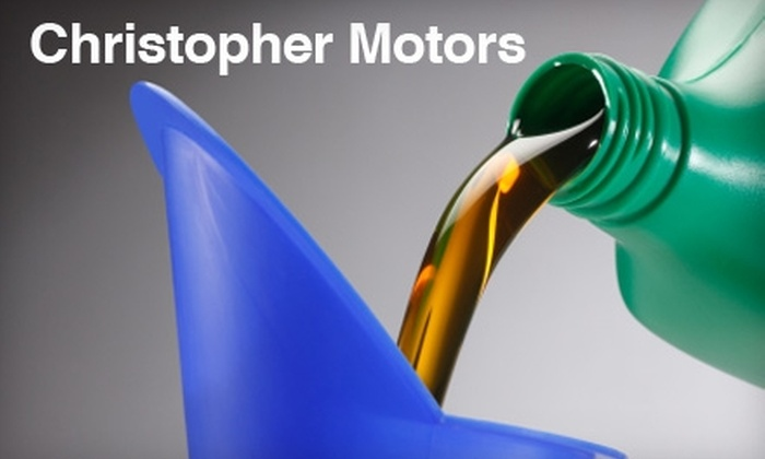 Christopher Motors - Warwick: $30 for Two Oil and Filter Changes at Christopher Motors in Warwick ($59.90 Value)
