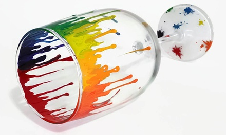 Glassware Painting Class for Two or Four at LK Custom Creations (Up to 61% Off)