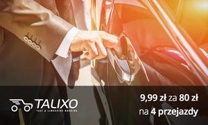 Talixo Services Poland Sp. z o.o.: 9,99 zł za groupon wart 80 zł na przejazdy taksówką, limuzyną i więcej z firmą Talixo