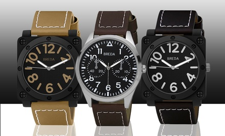 Breda Jaxon, Dexter, or Zach Men's Watches. Multiple Styles Available.
