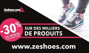 Zeshoes: Chaussures, baskets, bottes, casquette... 30% de réduction sur 20 000 produits via le site Zeshoes pour seulement 5 €