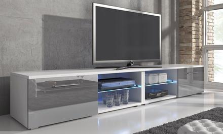 1x oder 2x ECOM TV-Unterschrank mit LED-Beleuchtung in Matt-Weiß oder Matt-Schwarz  (Stuttgart)