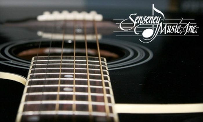 Senseney Music - Sunnyside: $17 for Guitar Re-Stringing and Strings at Senseney Music (Up to $39 Value)