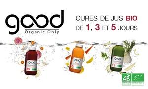 Good Organic Only: Cure détox d'1, 3 ou 5 jours dès 42 € avec Good Organic Only