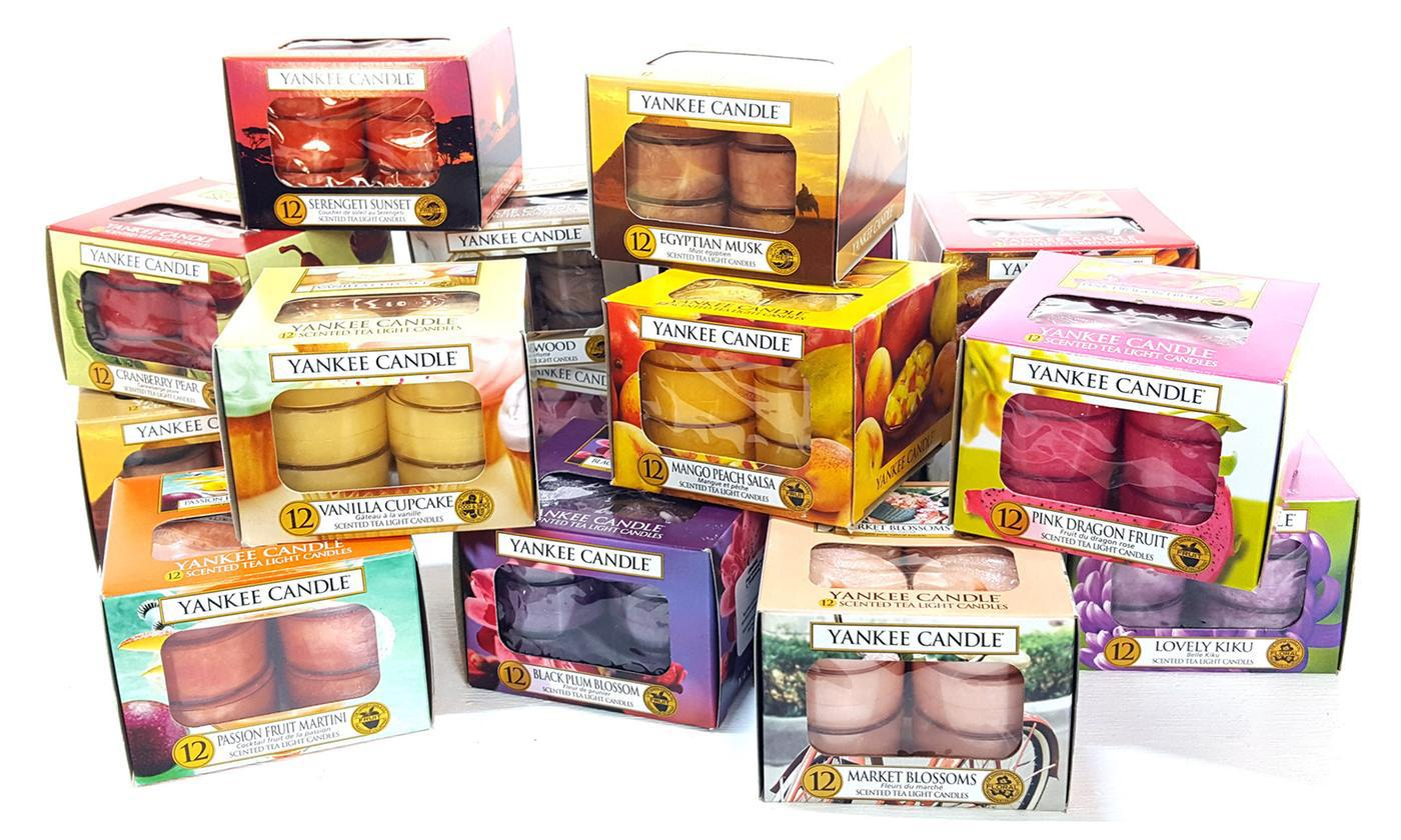 Yankee Candle Set of 3 Boxes of Assorted Tealights - 36 Candles Total
