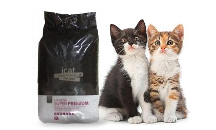 זוג שקי חול טבעי לחתול 18 ליטר המסייע להעלמת ריחות לא נעימים