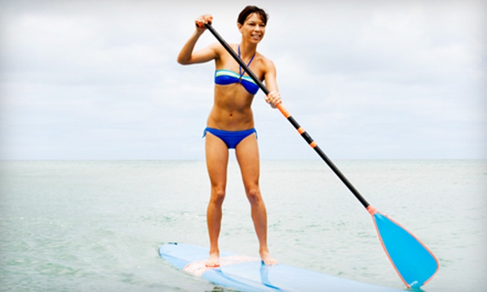 Surfguys Surf School - Melbourne Beach: $27 for a Guided Stand-Up Paddleboard Eco Tour from Surfguys Surf School in Melbourne Beach ($65 Value)