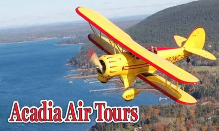 Acadia Air Tours - Trenton: $85 for a Biplane or Glider Ride over Bar Harbor and Acadia National Park from Acadia Air Tours