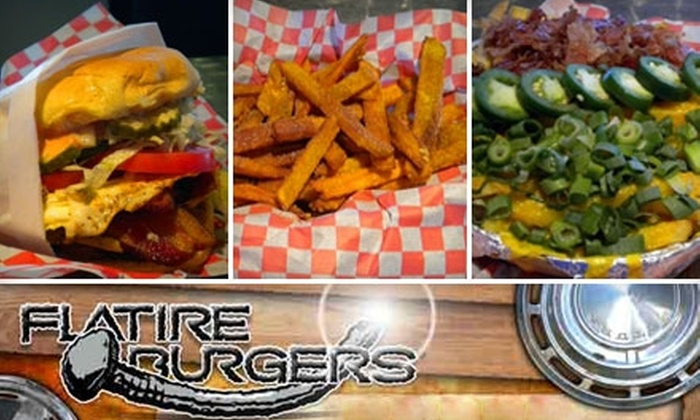 Flatire Burgers - Edmond: $8 for $20 Worth of Burgers & Drinks at Flatire Burgers in Edmond