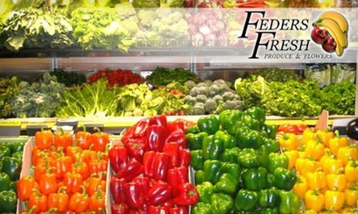 Feders Fresh Produce - Fairmount/Art Museum: $5 for $10 Worth of Smoothies, Produce, and More at Feders Fresh Produce