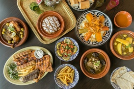 Marrakech Palace Grill: Sandwich with Soft Drink, or Choice of Soup or Salad with Grill or Tajine at Marrakech Palace Grill (Up to 51% Off)