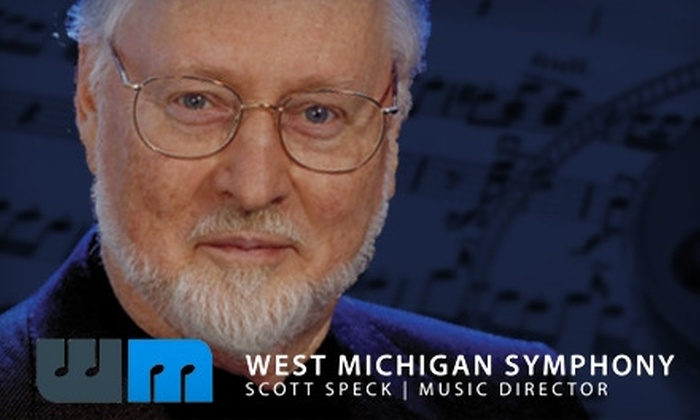"""West Michigan Symphony - Nelson: $12 for One Ticket to """"A Salute to John Williams"""" Concert by West Michigan Symphony (Up to $25 Value) in Muskegon on Either Oct. 29 or Oct. 30."""