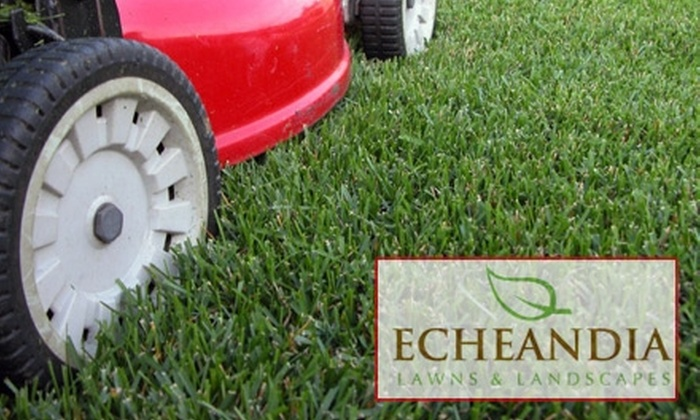 Echeandia Lawns & Landscapes - Washington DC: $39 for Consultation and Three Man Hours of Lawn-Maintenance Services from Echeandia Lawns & Landscapes ($105 Value)