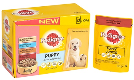 Pedigree Meat Selection in Jelly Puppy Pouches 48 x 100g