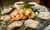 City Lobster and Steak - NO GDT - Theater District - Times Square: $29 for The Empire Seafood Platter with Oysters, Clams, Jumbo Shrimp, Crab Claws, and Two Drinks at City Lobster and Steak (Up to $59 Value)