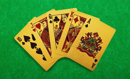 24-Karat-Gold Playing Cards