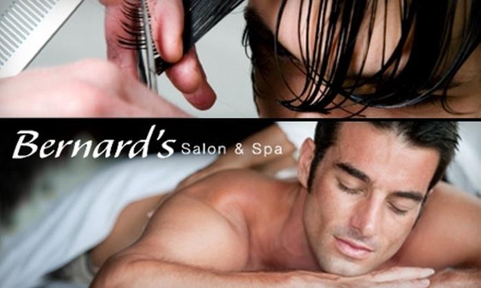 Bernard's Salon & Spa - Multiple Locations: $60 for a Massage and Facial at Bernard's Salon & Spa ($135 Value)