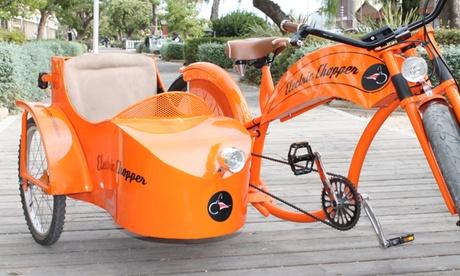 Alquiler de bicicleta, tándem o bicicleta con sidecar eléctricos durante 1 o 3 horas desde 4,95 € en Electric Chopper Oferta en Groupon
