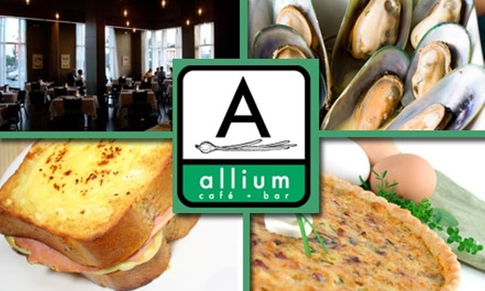 Allium Cafe and Bar - Stadium Area: $25 for $50 Worth of Bistro Cuisine and Drinks at Allium Café and Bar